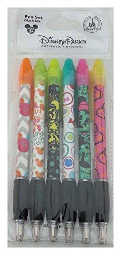 Disney Parks - Minnie Mouse Cute Designs - Ink Pen Set of 6