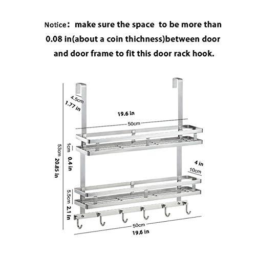 Over Door Shower Caddy Hook Rack Organizer Bathroom