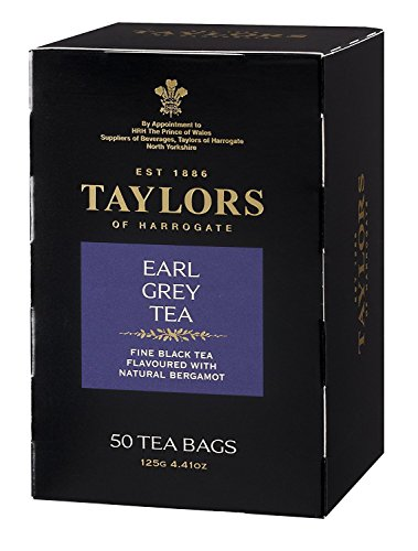 50 Tea Bag Tin - Taylors of Harrogate Earl Grey, 50 Teabags