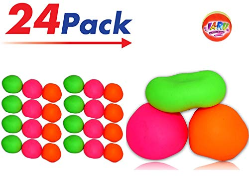JA-RU Stretchy Ball (Pack of 24) and one Bouncy Ball Soft Bounce Stress Ball Pull and Stretch | Item #401-24 ()