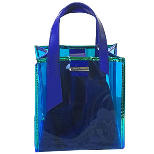Summer Transparent Messenger Blue Bag Ladies Portable Jelly Laser xFq8OTx