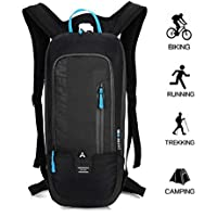 BLF Bike Backpack, Waterproof Breathable Cycling Bicycle Rucksack, 10L Mini Ultralight Biking Daypack Sport Bags Gift for Fitness Running Hiking Climbing Camping Skiing Biking Trekking