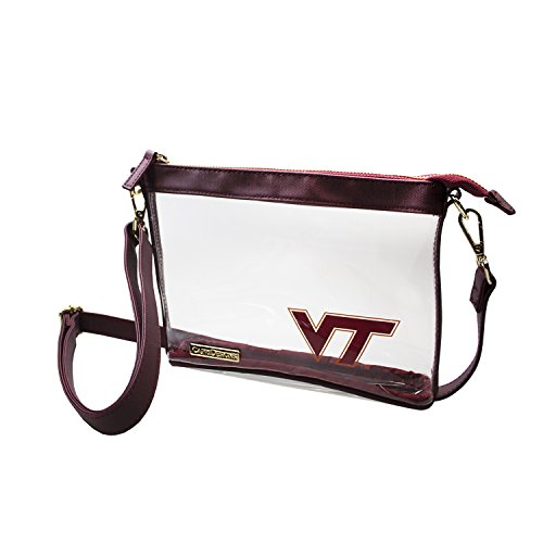 (Capri Designs Clear Small Crossbody Bag Stadium Approved - VT Hokies)