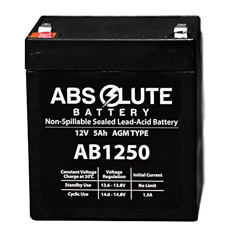 Elk Control M1ez8 - New New AB1250 12V 5AH SLA Battery Replacement ELK M1EZ8 Control Kit