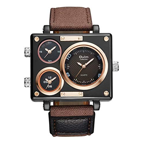 Oulm 3595 Men's Watches Top Luxury Brand Unique Designer Fashion Leather Strap Japan Movt Quartz Watches