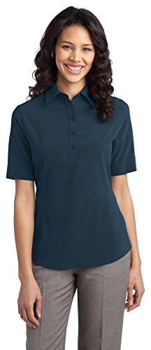 Port Authority Ladies Ultra Stretch Polo, Regatta Blue, XXXX-Large
