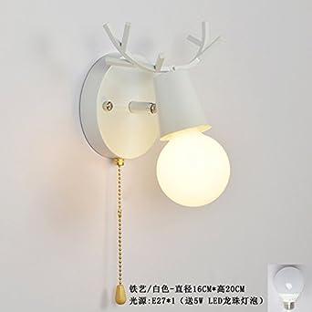 Nordic Spiegelleuchte rotierende Lampe Wohnzimmer ...