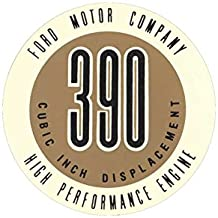 MACs Auto Parts 60-47110 Valve Cover Decal - 390 High Performance Engine - Ford