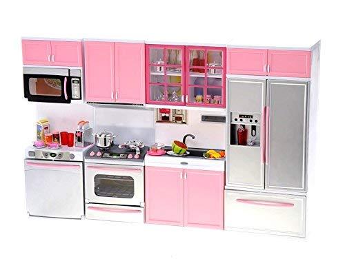 PowerTRC Kids Battery Operated Modern Kitchen Playset Great