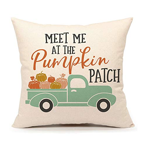 4TH Emotion Fall Pumpkin Truck Throw Pillow...