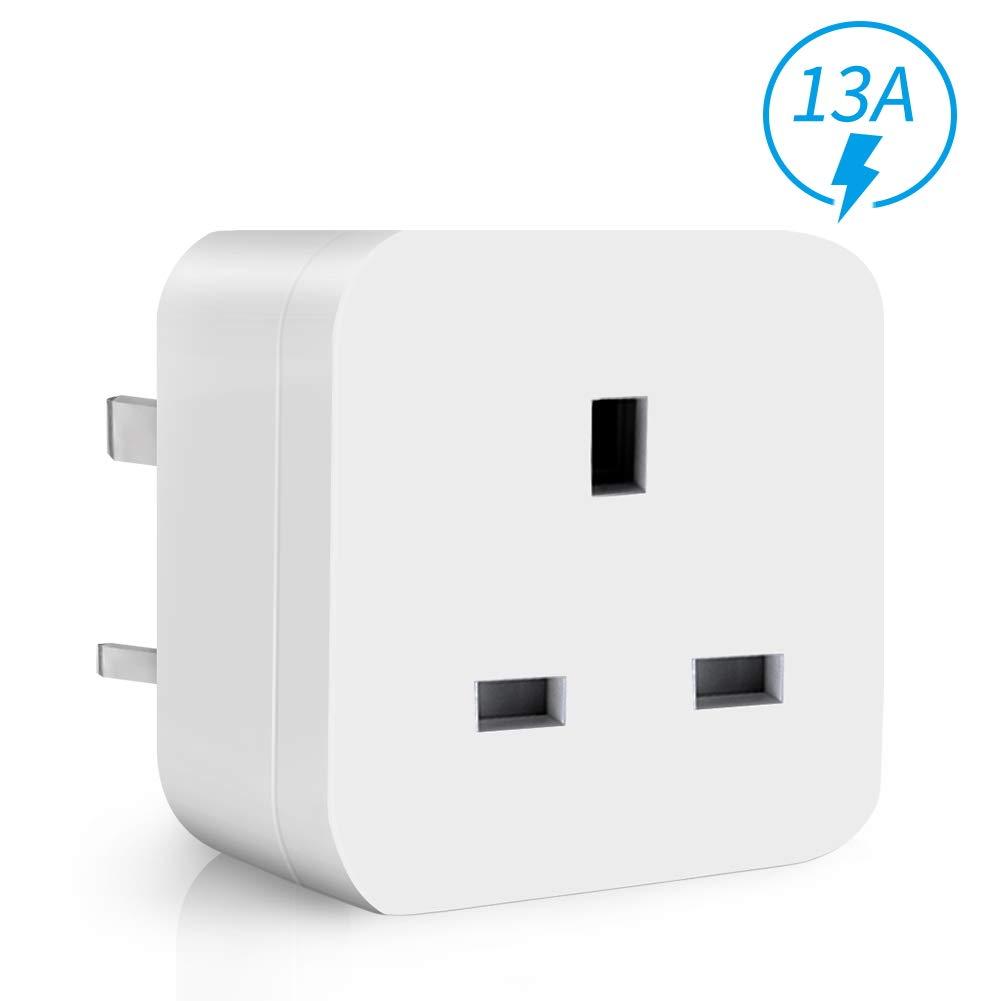 WiFi Smart Plug Mini ANOOPSYCHE Alexa Plugs, Energy Monitoring Timer Remote Control Plug Socket No Hub Required, 13A Smart Socket Compatible with Alexa Google Assistant IFTTT (UK Plug)