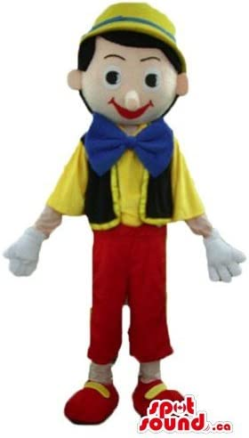 ピノキオの漫画のキャラクターをマスコットカナダ衣装仮装をSpotSound