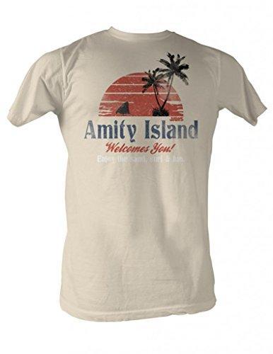 Jaws Amity Island Mens T-Shirt L