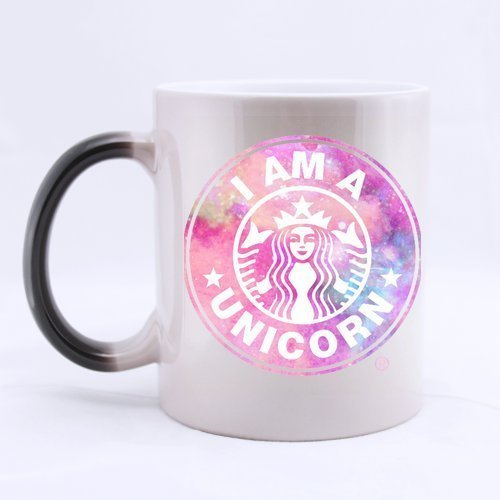 Starbucks Pink Logo Custom Magic Heat Sensitive Color Changing Mug Ceramic Coffee White Mug 11 Ounces Gifts