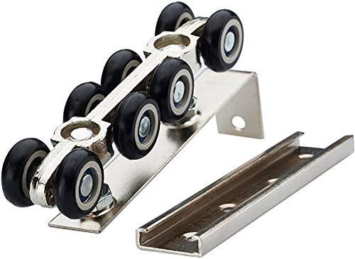 Polea grande para puerta de 8 ruedas, rueda de aluminio para ...