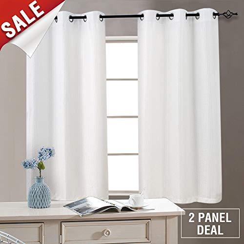 White Curtains for Bedroom Living Room Grommet Window Drapes