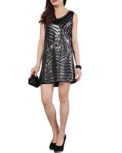 1920s Style Deco Flapper Sequin Gatsby Charleston Tank Party Dress Attire -