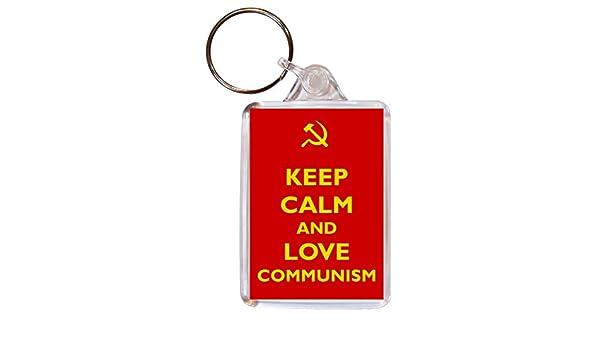 Keep Calm And Love comunismo - doble cara llavero grande ...