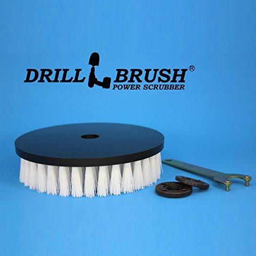 Round Nylon 7 Inch Scrub Brush For Rotary Buffers And