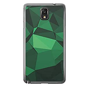Loud Universe Samsung Galaxy Note 3 Geometrical Printing Files A Geo 33 Printed Transparent Edge Case - Green