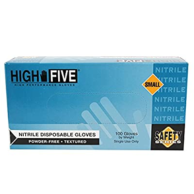 Microflex High Five Cobalt Blue Small Nitrile Powder Free Disposable General Purpose & Examination Gloves - Medical Grade - Rough Finish - N211 [PRICE is per BOX]