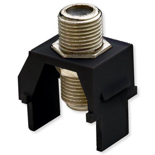 (Legrand - On-Q WP3479BK NonRecessed Nickel FConnector, Black)