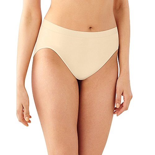 Bali Women's 3 Pack Comfort Revolution Hi-Cut Panty, Light Beige/Nude/Black, 10/11