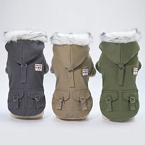 Militare Per Taglia Verde Cappuccio Cani Con Aolvo Calda Cappotto Cachi Xl Giacca Stile Invernale Piccola Cane Caldo Cappottino S Antivento xwtfaq5q6