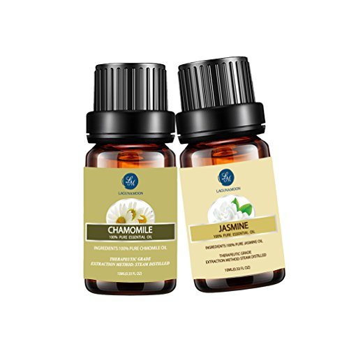 Jasmine Chamomile Essential Oil,10ML Natural Pure Aromatherapy Oils Therapeutic Grade, Value 2 Pack