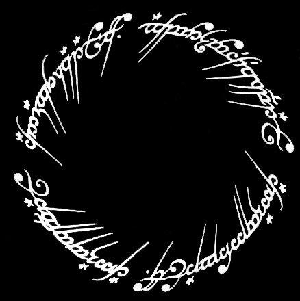 (LLI Lord of The Rings Ring of Power Inscription | Decal Vinyl Sticker | Cars Trucks Vans Walls Laptop | White | 5.5 x 5.5 in | LLI995)