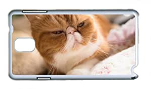 Cute Samsung N9000 slim cover Cat attractive face bokeh PC White for Samsung Note 3/Samsung N9000