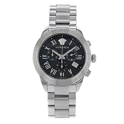 Versace Men's P6C99GD008 S099 Pair Analog Display Quartz Silver Watch