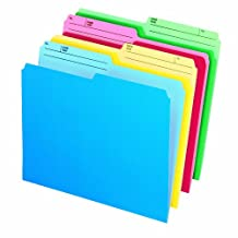 Pendaflex Cutless Watershed File Folders, Letter, Assorted, 24/Pack