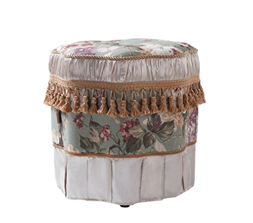 Jennifer Taylor Home 2339-588 Eleanor Ottoman, Green Floral Review