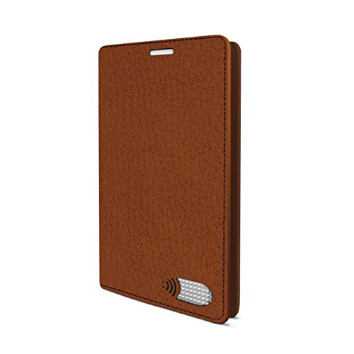 Vest Anti Radiation Wallet Case PU Leather for Samsung Galaxy S7-98% Less Radiation Exposure (Brown)