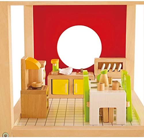 toys, games, dolls, accessories, dollhouse accessories,  furniture 2 picture Hape Wooden Doll House Furniture Dining Room Set deals