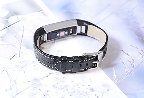 Henoda Leather Bands for Fitbit Alta,Alta Strap Style (Slub pattern)