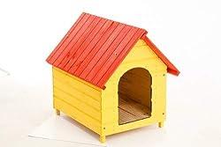 Casa Casinha Cachorro E Gato Madeira N. 03 Colorida