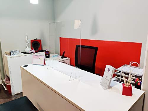 Mampara de protección - Mostrador, oficina, comercio, restaurante - Metacrilato transparente - 100x67cm: Amazon.es: Industria, empresas y ciencia