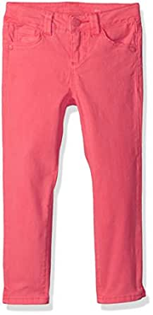 Celebrity Pink Little Girls' Super Soft Twill Ankle Length Skinnys, Bubble Gum Pink, 4