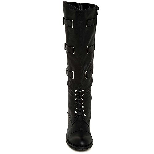 Modern Rebel Womens Fashion Koreally Tall Boots Black TIkZ3O