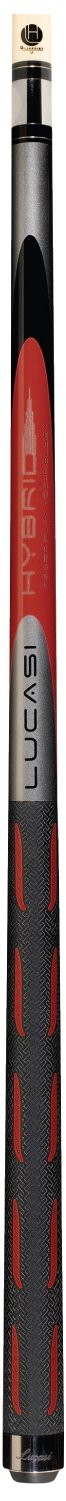 Lucasi Hybrid L-H30 Original Torrent Red and Metallic Silver Golf Style Technology Cue, 19.5-Ounce