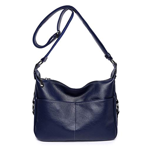 Women's Retro Casual Hobo Shoulder Bags Soft PU Leather Crossbody Bags for Women (style 2 blue) ()