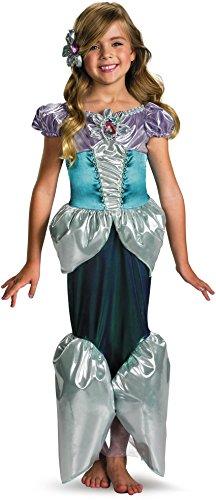 [Ariel Deluxe Costume - Medium] (Ariel Costumes Toddler)