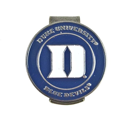 Duke Blue Devils Hat Clip - Duke Blue Devils Hat Clip with Double Sided Golf Ball Marker