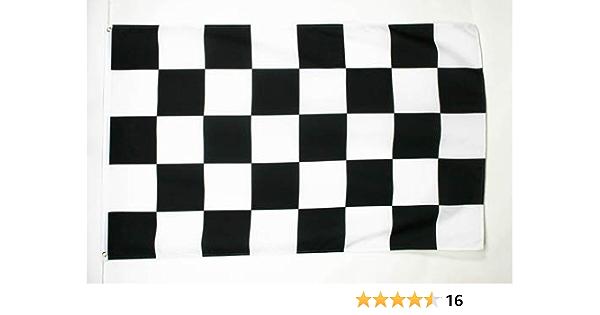 AZ FLAG Bandera A Cuadros Negros Y Blancos 150x90cm - Bandera DE Carreras AUTOMOVILES - Negro Y Blanco 90 x 150 cm: Amazon.es: Hogar