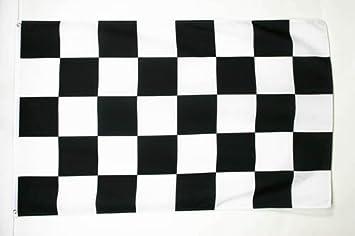 0ae938232643 AZ FLAG Drapeau à Damier Noir et Blanc 180x120cm Oeillets Haute qualité
