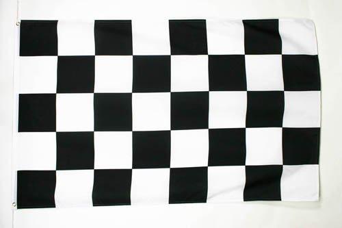 AZ FLAG Checkered Black and White Flag 2' x 3' - Car Race Flags 60 x 90 cm - Banner 2x3 ft