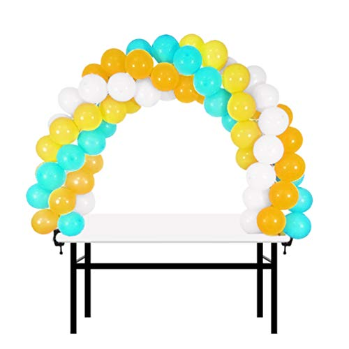 12ft Table Balloon Arch Kit Adjustable Balloon Column Stand for Baby Shower, Birthday, Wedding, Christmas, and 2018 Graduation Party Decoration