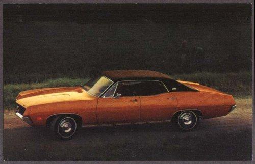 (1970 Ford Torino Brougham 4-door Hardtop dealer postcard)